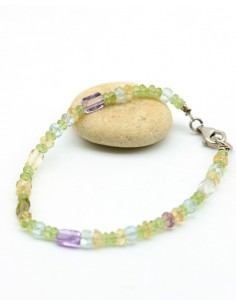 Bracelet pierres semi précieuses - Mosaik bijoux indiens