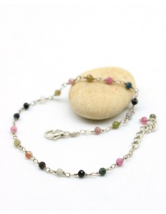 Bracelet tourmalines - Mosaik bijoux indiens