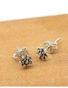 Puces d'oreilles argent étoile - Mosaik bijoux indiens