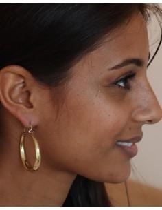 Créoles dorées en laiton - Mosaik bijoux indiens 2