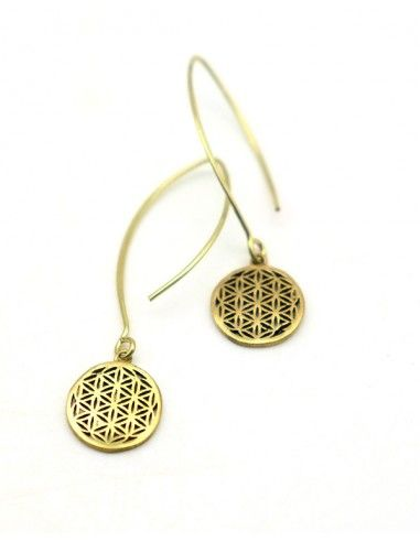 Boucles d'oreilles fleur de vie - Mosaik bijoux indiens