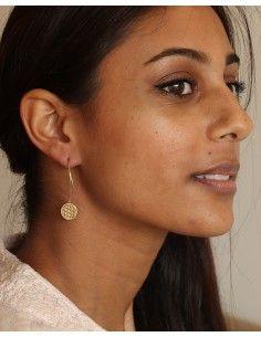 Boucles d'oreilles fleur de vie - Mosaik bijoux indiens 2
