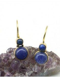 Boucles d'oreilles pierre bleues - Mosaik bijoux indiens
