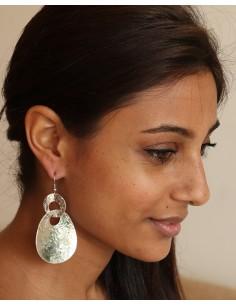 Boucles d'oreilles argentées - Mosaik bijoux indiens 2