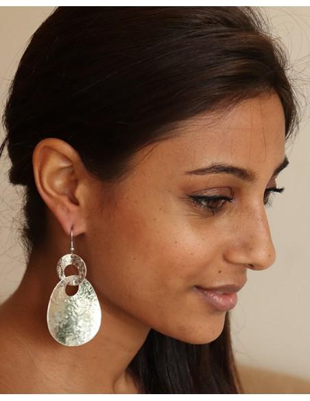 boucles d'oreilles ethniques indiennes - Mosaik bijoux indiens