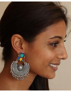 Boucle d'oreille à grelots - Mosaik bijoux indiens 2