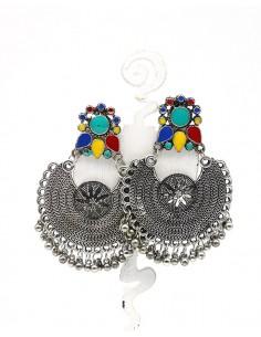 Boucle d'oreille à grelots - Mosaik bijoux indiens