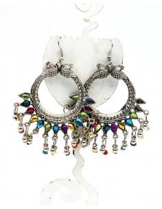 boucle d'oreille peacock - Mosaik bijoux indiens