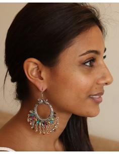 boucle d'oreille peacock - Mosaik bijoux indiens 2