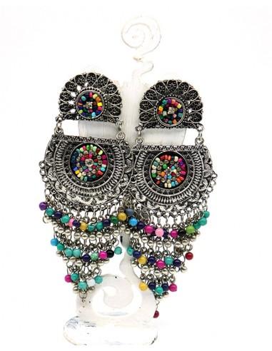 boucles d'oreilles hippie - Mosaik bijoux indiens