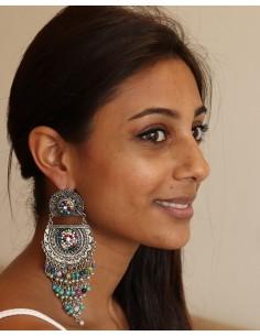 boucles d'oreilles hippie - Mosaik bijoux indiens 2