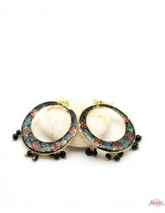 Boucles d'oreilles meenakari - Mosaik bijoux indiens