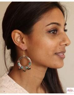 Boucles d'oreilles meenakari - Mosaik bijoux indiens 2