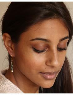 Boucles d'oreilles dorées cône - Mosaik bijoux indiens 2
