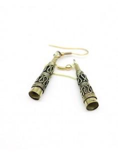 Boucles d'oreilles dorées cône - Mosaik bijoux indiens