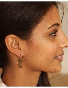 Créoles spirales laiton doré - Mosaik bijoux indiens 2