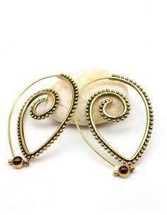 Boucle spirales en laiton - Mosaik bijoux indiens