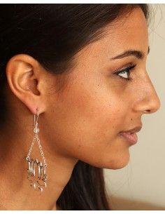 boucle d'oreille lotus - Mosaik bijoux indiens 2