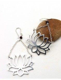 boucle d'oreille lotus - Mosaik bijoux indiens