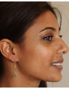 Boucle d'oreille tige fine - Mosaik bijoux indiens 2