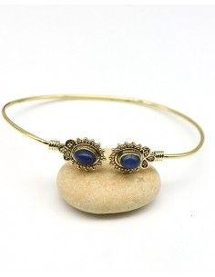 Jonc doré et lapis lazuli - Mosaik bijoux indiens