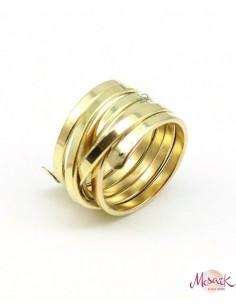 Gros anneau doré en laiton - Mosaik bijoux indiens