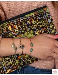 Jonc doré et améthyste - Mosaik bijoux indiens 2