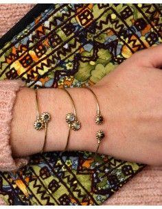 Jonc doré pierre de lune - Mosaik bijoux indiens 2