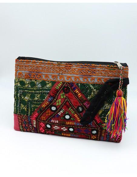 pochette bohème chic brodée - Mosaik bijoux indiens