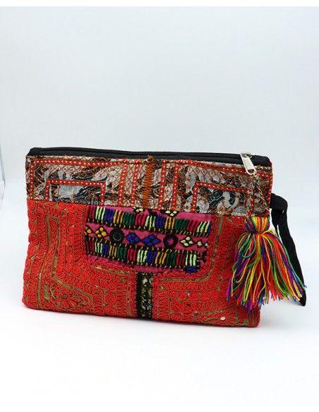 Pochette brodée indienne - Mosaik bijoux indiens