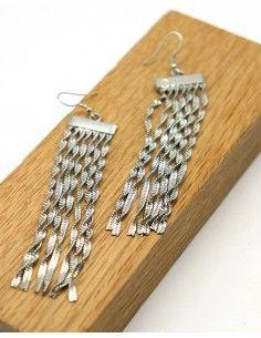 Boucle d'oreille longue à franges - Mosaik bijoux indiens