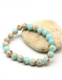 Bracelet turquoise cuivré - Mosaik bijoux indiens