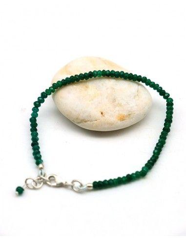 Bracelet émeraude - Mosaik bijoux indiens