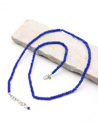 Collier agate bleue - Mosaik bijoux indiens