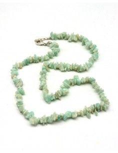 collier amazonite pierres concassées - Mosaik bijoux indiens