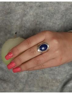Bague argent et lapis lazuli 2