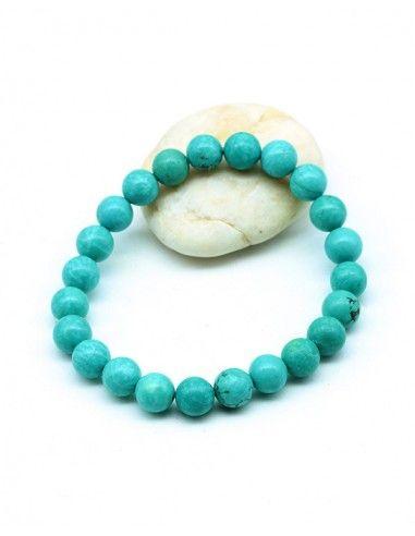 Bracelet turquoise elastique - Mosaik bijoux indiens