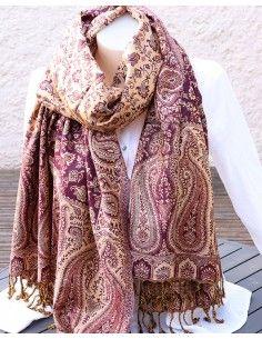 Etole violette et beige indienne - Mosaik bijoux indiens