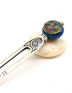 Pique à cheveux argenté - Mosaik bijoux indiens 2