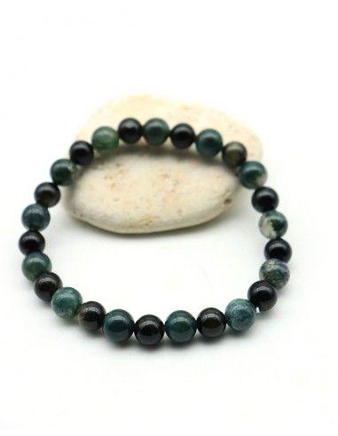 Bracelet homme agate - Mosaik bijoux indiens