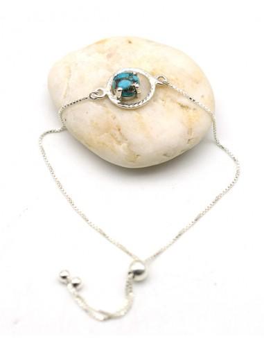 Bracelet argent turquoise de mohave - Mosaik bijoux indiens