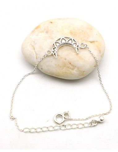 Bracelet argent demi lune - Mosaik bijoux indiens
