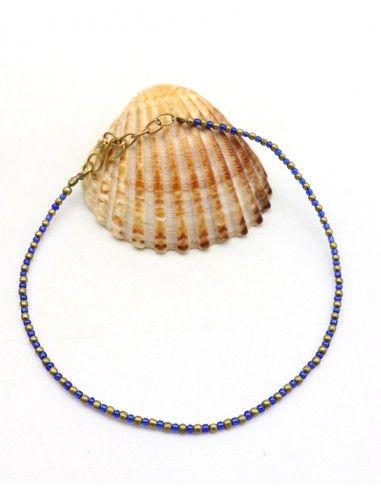 Chaine de pied bleue - Mosaik bijoux indiens