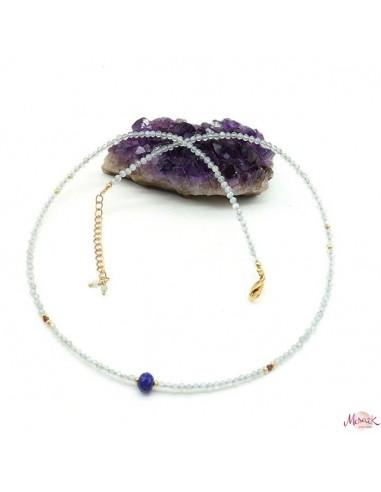 collier labradorite taillée - Mosaik bijoux indiens