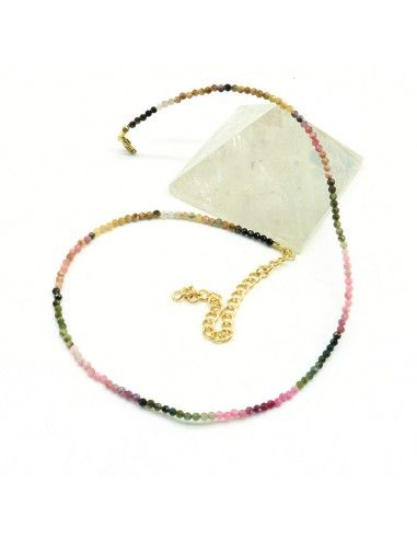 Collier pierres tourmaline - Mosaik bijoux indiens