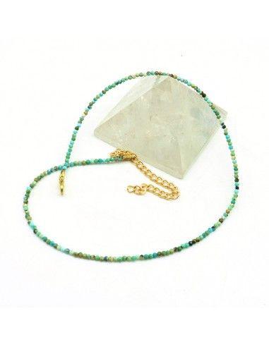collier turquoise facettée - Mosaik bijoux indiens