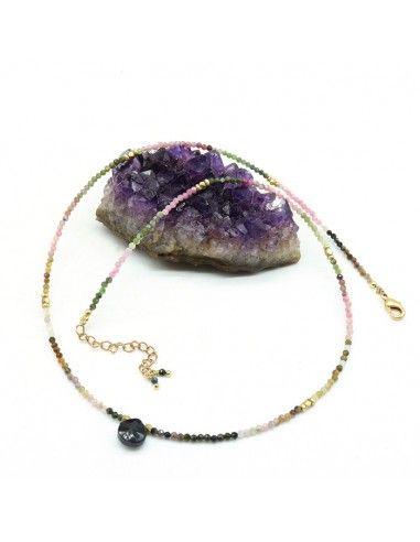 Collier tourmaline - Mosaik bijoux indiens