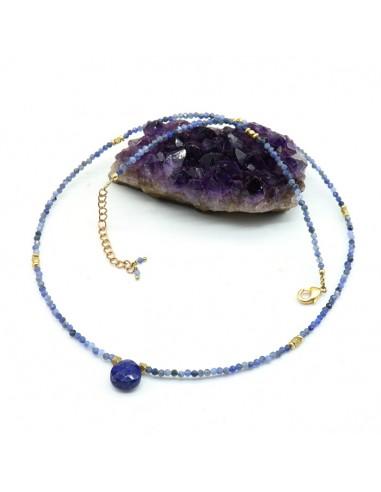 Collier iolite - Mosaik bijoux indiens