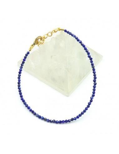 Bracelet lapis lazuli facetté - Mosaik bijoux indiens