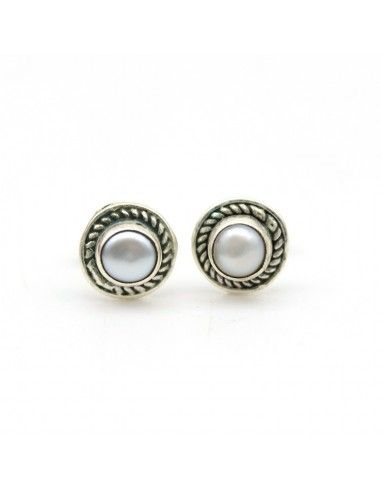 Puce d'oreille perle - Mosaik bijoux indiens